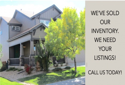 SOLD OUR INVENTORY